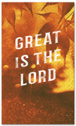 Great is the Lord Fall harvest banner - duotone gold large