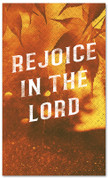 Rejoice in the Lord Fall harvest banner - duotone gold large