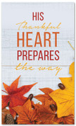 A thankful heart prepares the way - large fall harvest banner