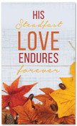 His steadfast love endures fall harvest banner large