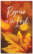Rejoice fall harvest banner - large