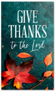 Give Thanks fall harvest leaves banner - large