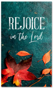 Rejoice fall harvest leaves banner large