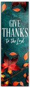 Give Thanks fall harvest leaves banner
