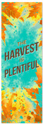 The Harvest is Plentiful watercolor fall banner