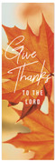 Fall Banner orange leaf give thanks