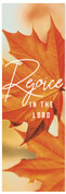 Fall Banner orange leaf rejoice in the Lord