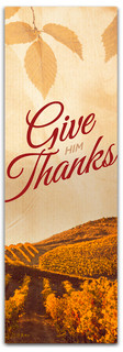 Vineyard vintage give thanks to the Lord banner