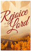 Thanksgiving banner rejoice in the Lord vineyard design
