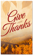 Thanksgiving banner Give Thanks vineyard design