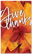 Thanksgiving banner Give Thanks Festive Orange