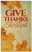 Vintage Thanksgiving banner design Give Thanks