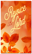 Thanksgiving Banner Classic Orange Rejoice in the Lord