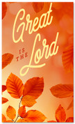 Thanksgiving banner classic orange Great is the Lord