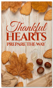 Thanksgiving Banner thankful heart on wooden design