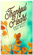 thanksgiving banner thankful heart prepares the way