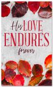 thanksgiving banner His love endures forever