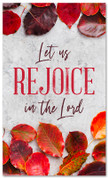 thanksgiving banner rejoice in the lord