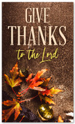 Thanksgiving banner give thanks