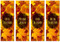 set of 4 fabric fall harvest banners