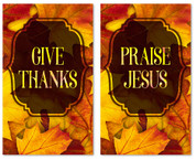 Set of 2 Thanksgiving banners