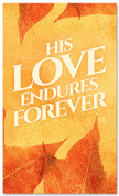 thanksgiving banner his love endures forever