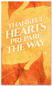 thanksgiving banner thankful hearts prepare the way