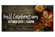 fall celebration outdoor harvest banner