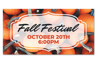 fall festival outdoor harvest banner