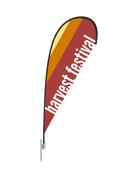 Teardrop Flag Modern Stripes Harvest Festival