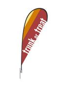 Teardrop Flag Modern Stripes Trunk or Treat