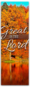 thanksgiving banner Great is the Lord