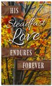 thanksgiving banner his steadfast love endures forever