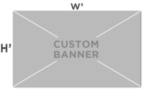 Custom Size Vinyl Banner - choose your dimensions.