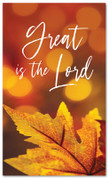 Great is the Lord fall harvest banner - large