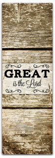 fall harvest banner great is the lord