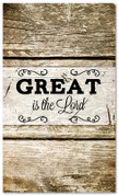 Great is the Lord - Fall- HB065 xw