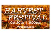 harvest festival outdoor harvest banner