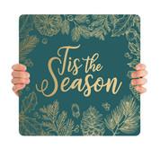 Teal Gold Leaf - Tis the Season - CHH001