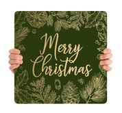 Green Gold Leaf - Merry Christmas - CHH006