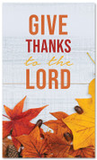 give thanks fall harvest banner large