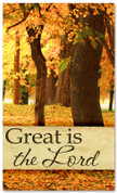 Great is the Lord fall harvest banner large