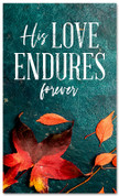 Love Endures fall harvest leaves banner large