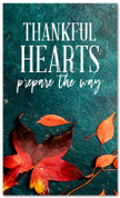 Thankful Hearts fall harvest leaves banner large