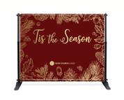 Red Gold Leaf Backdrop - Tis the Season - CBB002