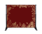 Red Gold Leaf Backdrop  - CBB007