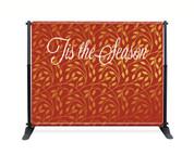 Gold Leaf Pattern Backdrop - Tis the Season - CBB024