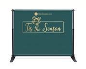 Teal Gold Bell Backdrop - Tis the Season - CBB016