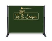Green Gold Bell Backdrop - Tis the Season - CBB020