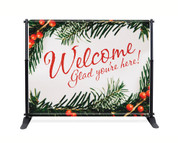 Festive Berries Backdrop - Welcome - CBB031